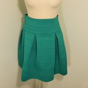 H&M green flared skirt. Super cute!